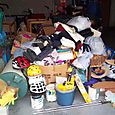 During - Charitable Donations Gathered in Center of Garage