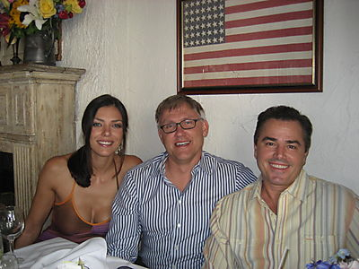 Chris Knight, John Trosko and Adrianne Curry at the Ivy