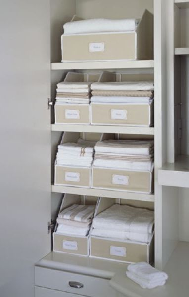 Collapsible Linen Closet Storage