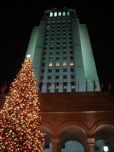 Downtown los angeles city hall christmas