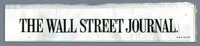 Wall street journal masthead logo