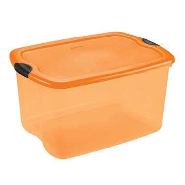 Sterilite orange storage box