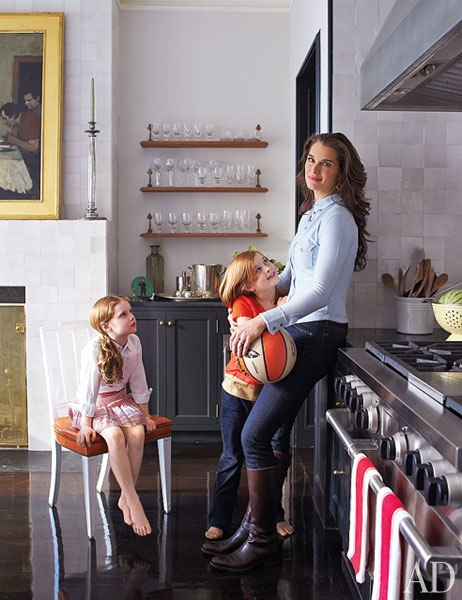 Brooke Shields Kitchen At Home