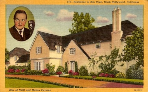 Bob Hope North Hollywood Home Postcard