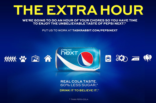 PepsiNEXT Task_Rabbit Extra Hour Promotion