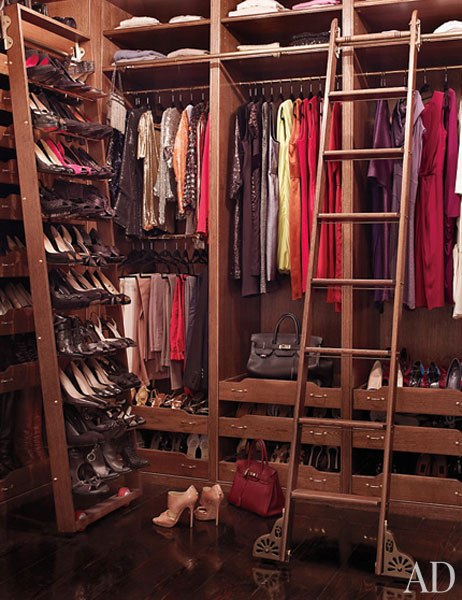 Brooke Shields Closet at Home