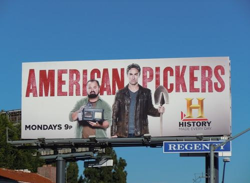 American Pickers TV billboard