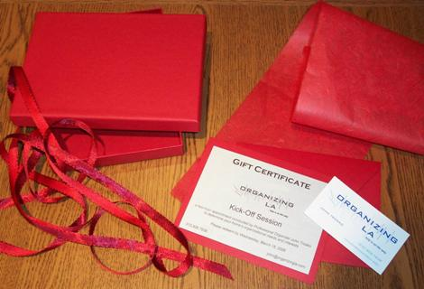 Los Angeles Professional Organization Gift Certificate