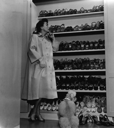 Joan Crawford Shoe Closet Home