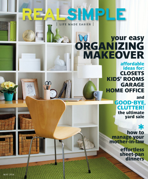 Real Simple Magazine May 2014 professional organizer