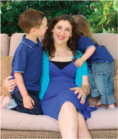 Mayim bialik at home with kids