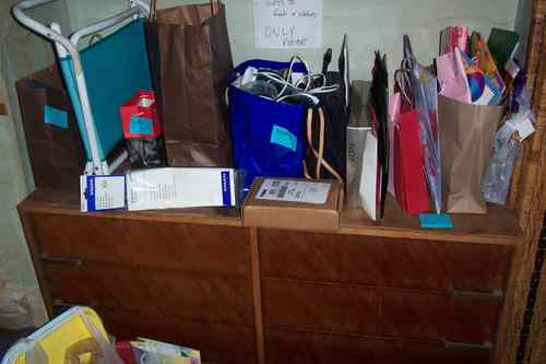 During - Back View of New Out-Box Area (Items Needing to be Returned, Given Away to Family, etc.)